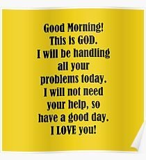 good morning from god poster