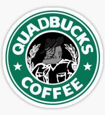 QuadBucks Coffee Sticker