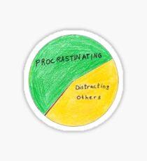 Gráfico de productividad de Michael Scott Pegatina