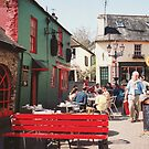 The Red Bench in Kinsale by Elana Bailey