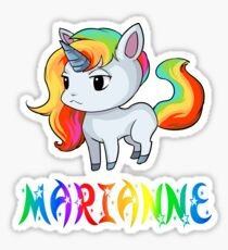 Marianne Unicorn Sticker Sticker