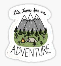 Pegatina Es hora de una aventura