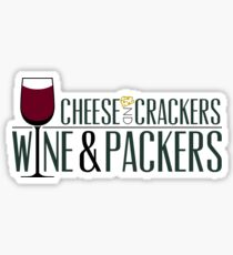 Cheese and Crackers Wine and Packers Sticker