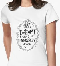 Last night I dreamt I went to Manderley again Women's Fitted T-Shirt