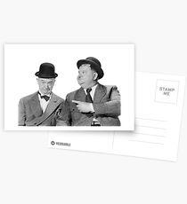 Postales Laurel y Hardy