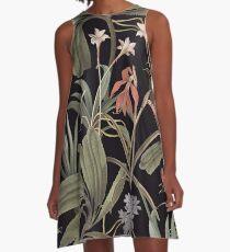 State Library Victoria Dark Botanical Stravaganza A-Line Dress