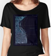USGS TOPO Map Illinois IL Granite City 322813 1933 24000 Inverted Women's Relaxed Fit T-Shirt