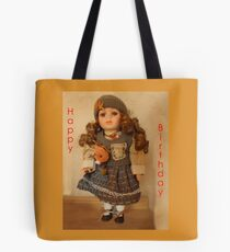 Girls, Doll Birthday card Tote Bag