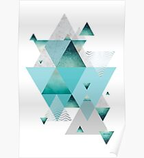 Türkis Geometrisch Poster