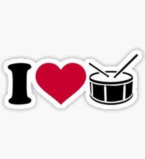 I love drums Sticker