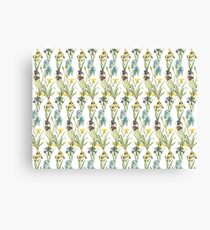 Vintage Floral Pattern | No. 2B | Irises Canvas Print