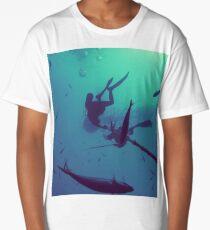 Below a Fish Aggregating Device Long T-Shirt