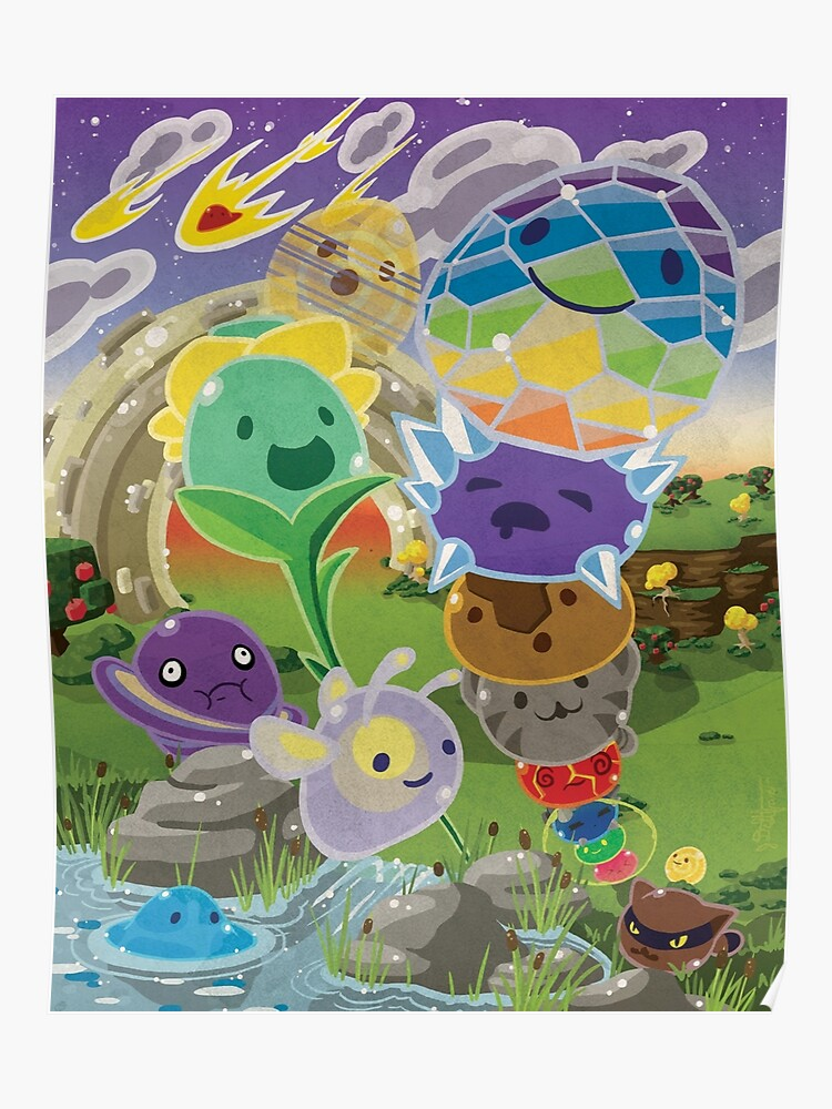 Slime Rancher All Slimes Collection | Poster