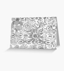 Layer Upon Layer # 2 - Black And White Greeting Card