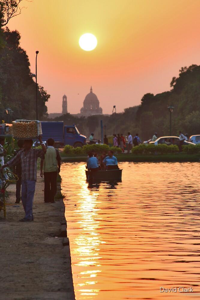 Delhi Sunset by David Clark