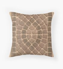 Stone tile earth tone pattern Throw Pillow