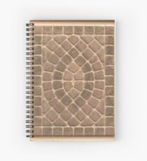Stone tile earth tone pattern Spiral Notebook