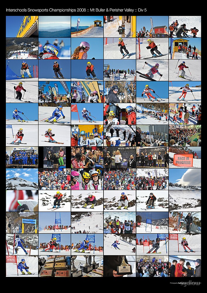 2008 Interschools Snowsports - Div 5 Girls - poster by sydlow