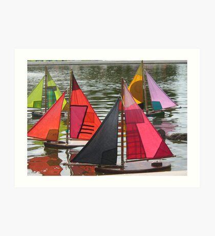Boating in Paris Art Print