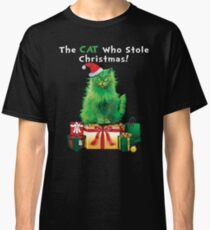 Green Grinch Cat Who Stole Christmas Funny  Classic T-Shirt