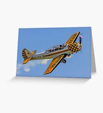 Nigel Willson waves from Yak-52 G-BXJB Greeting Card