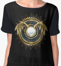 Mechanical Dragon Wings with a Lens ( Steampunk wings ) Chiffon Top