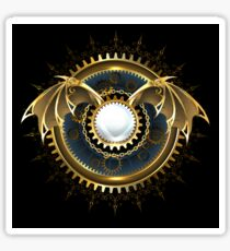 Mechanical Dragon Wings with a Lens ( Steampunk wings ) Sticker