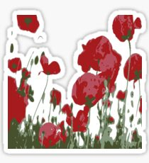 Abstract Poppy Field Of Remembrance  Sticker