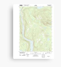 Maine USGS Historical Map Caratunk 20110906 TM Canvas Print