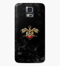 Clock with Dragon Wings ( Steampunk wings ) Case/Skin for Samsung Galaxy