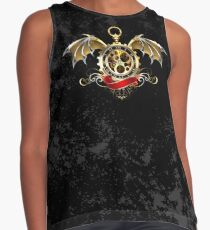 Clock with Dragon Wings ( Steampunk wings ) Contrast Tank