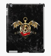 Clock with Dragon Wings ( Steampunk wings ) iPad Case/Skin