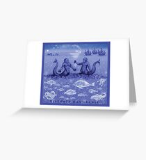 Natural History in Indigo | CreateArtHistory Greeting Card