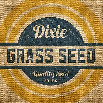 Vintage Burlap Dixie Grass Seed Sack by marceejean