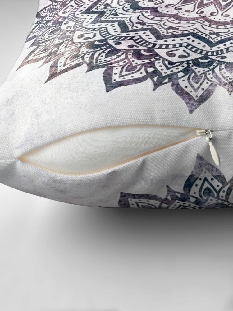 Alternate view of JEWEL MANDALA Throw Pillow
