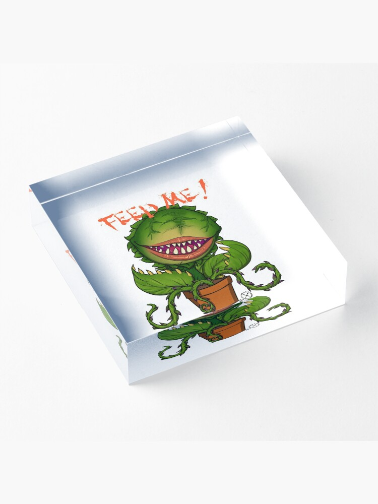 Alternate view of Mean Green Mother FEED ME ! Acrylic Block