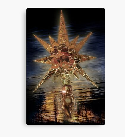 MirrorStar&Angel'sSoul . a ChristmasCard Canvas Print