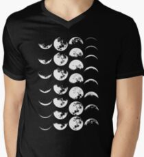 Moon Phases No. 2 Men's V-Neck T-Shirt