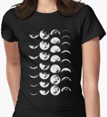 Mondphasen Nr. 2 Tailliertes T-Shirt für Frauen