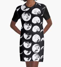 Mondphasen Nr. 2 T-Shirt Kleid