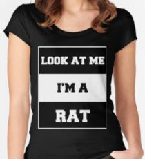 look at me i'm a rat Women's Fitted Scoop T-Shirt