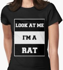 look at me i'm a rat Women's Fitted T-Shirt