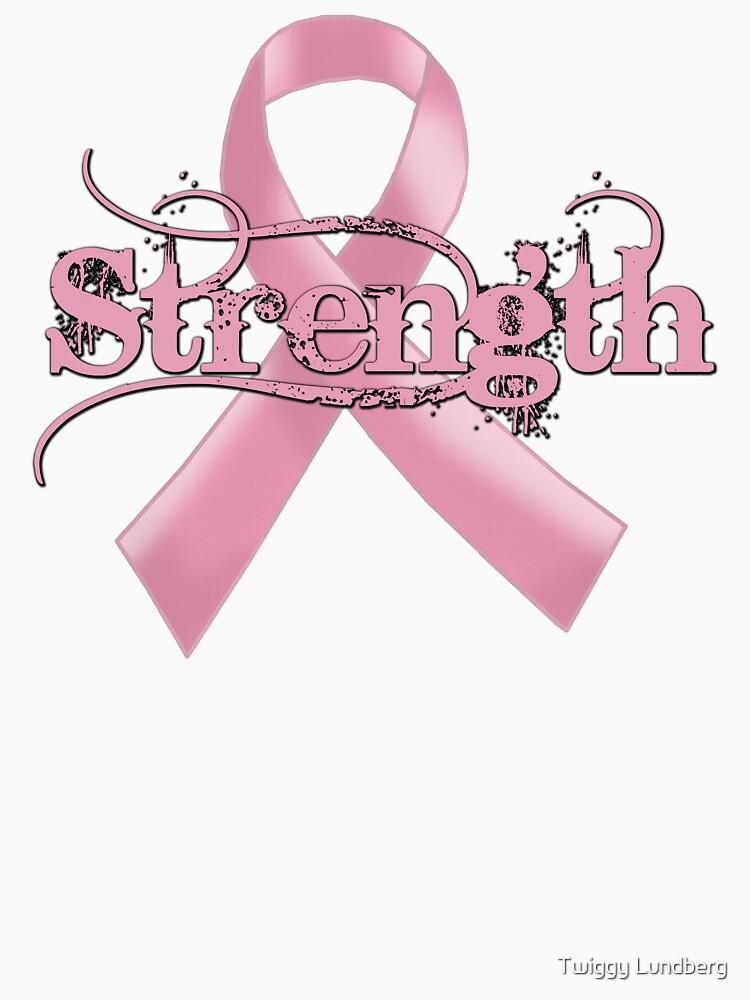 Strength Pink Ribbon by JayBakkerArt