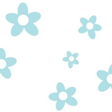 Floral Pastel Blue Design by MissDewi