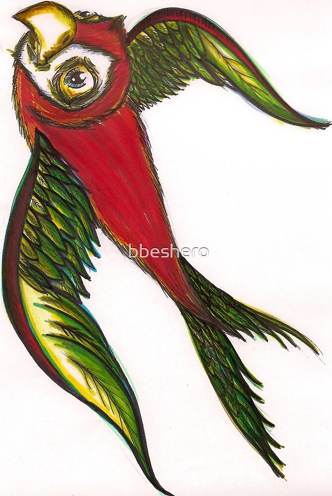 sharpie bird. by bbeshero