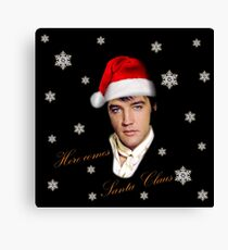 Elvis Presley - Christmas Canvas Print