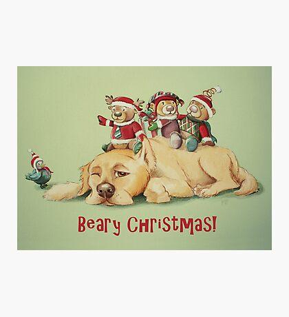 Beary Christmas Photographic Print