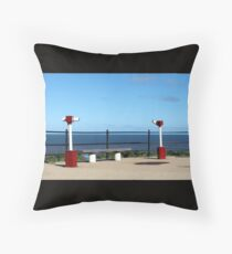 Panorama with telescopes Throw Pillow