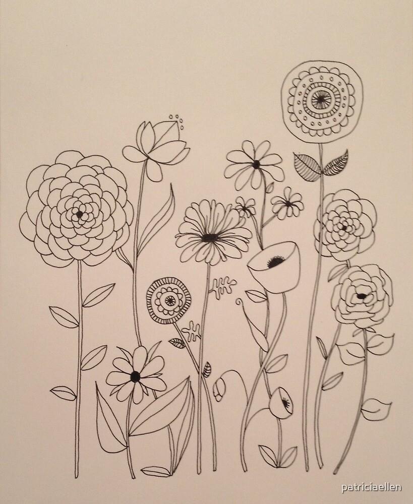 Happy Flower Doodles by patriciaellen