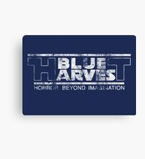 Blue Harvest distressed (white) Canvas Print